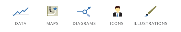 icons data diagrams maps illustrations